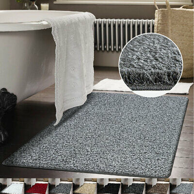 Shimmer Sparkle Shaggy Rug Glitter Thick Pile Extra Small Large Bathroom Rug Mat
