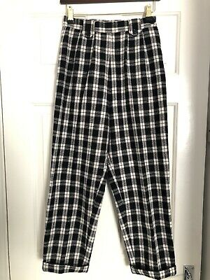 Bloody Edith Black White Check 50s Style Trousers