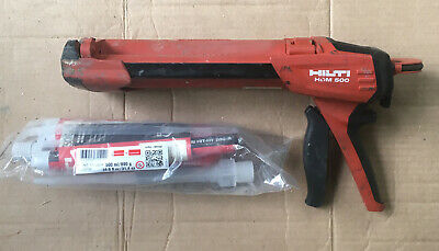 Hilti HDM500 HDM 500 Red Cartridge Adhesive Epoxy Dispenser & 1 Tube Hilti Epoxy