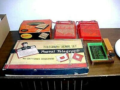 Vintage Assortment Of Toy Telegraph Sets Postal,Aerovox More