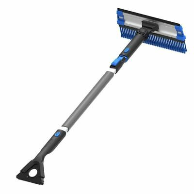 Snow Removal Shovel Multi Functional Ice Scraper Extendable Broom Brush Cleaning