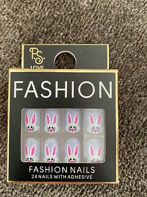Primark 24 Fashion Nails With Fun Bunny, Rabbit Design