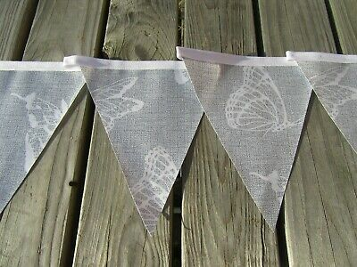 Grey Butterfly Pvc Garden / Indoors Bunting 3Mtrs Approx 10Ft