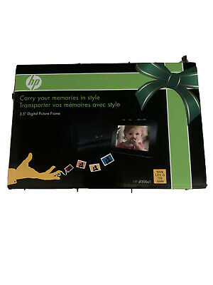 "HP DF300A1 3.5"" Digital Picture Frame Portable Travel in Style Photo Memories"