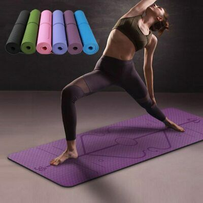 Yoga Mat with Position Line, Thick Non Slip, Fitness Gymnastic DURABLE And NEW