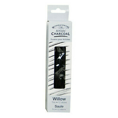 Winsor & Newton / Colart 7005172 Artists Willow Charcoal Thin 12 Sticks