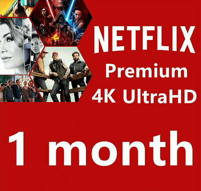 🔥Netflix Gift & Warranty | 4K Ultra HD | 1 Month | 4 Screen | Private Account