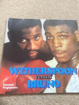 Frank Bruno signed Souvenir Programme from Witherspoon v Bruno from 19 July 1986
