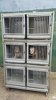 Large Wheeled Aluminium Dog Animal Cages Veterinarian Breeders Etc