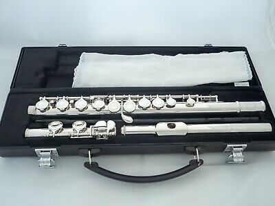 Yamaha YFL-321 Intermediate Flute Silver Head *Cleaned Serviced *New Pads
