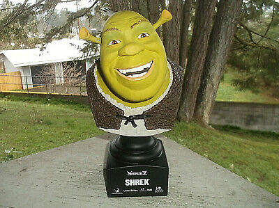 "2004 Shrek 2 SHREK Bust Sculpture Master Replicas 8 1/2"" Limited Edition Resin"