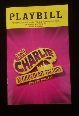 Charlie and the Chocolate Factory Playbill - Miami Show January 2020 (new)