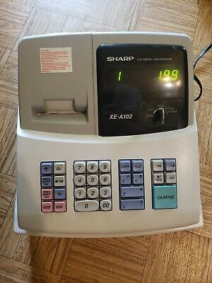 Sharp Electronic Cash Register XE-A102 - Preowned Condition, w/ KEY