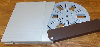 Posso 600ft Super 8 Plastic Film Reel With Matching Posso Library Case