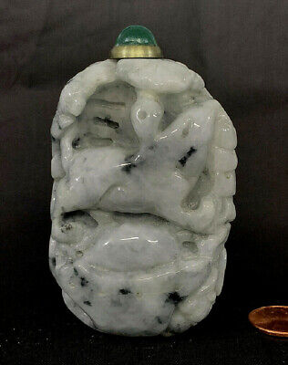 Antique Chinese Carved Nephrite Jade snuff bottle
