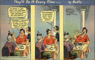 They'll Do It Every Time artist Jimmy Hatlo comic restaurant dessert ~ 1940s