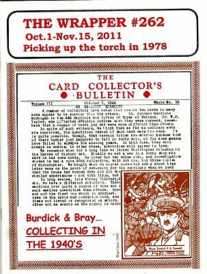 The Wrapper Magazines #262 2011. collecting trading Cards in the 1940s