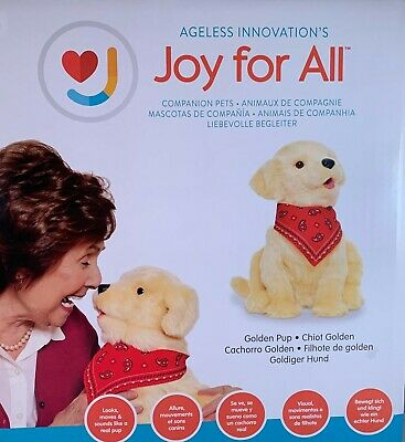 Joy for All Companion Pet Realistic Lifelike Soft Cuddly Golden Pup Brand New!
