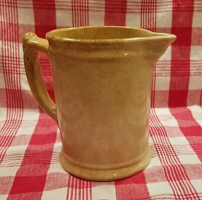 Off White Ironstone Pitcher by Royal China International C. 1900 Victorian