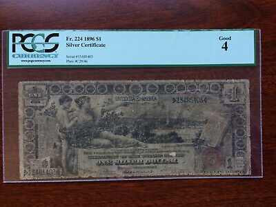 One Dollar Silver Certificate Series 1896 PCGS Good 4 Large Note !