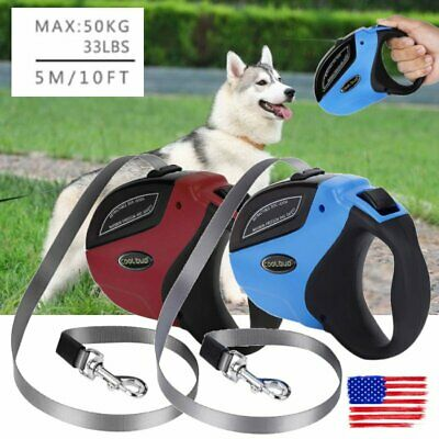 5M/16FT Retractable Dog Cat Leash Pet Automatic Walking Lead Tangle Free Leash