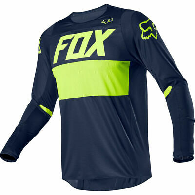 FOX 360 Bann Jersey blau/neon Motocross MX Moto Cross Enduro Trikot Offroad Bike