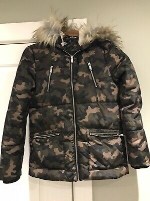 New Look Camouflage Coat Age 12-13