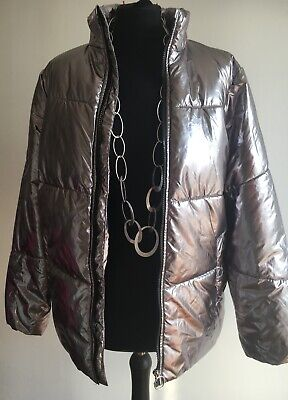 Stunning Silver Girls Lightweight Padded Jacket Very Good Condition Age 14 - 15