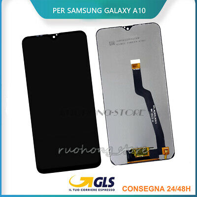 Display Lcd+Touch Screen Per Samsung Galaxy A10 2018 A105Fn/F/Ds Vetro Schermo
