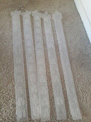 5  Hanging Merchandising Strip Display Plastic Clip Strips for 12 items