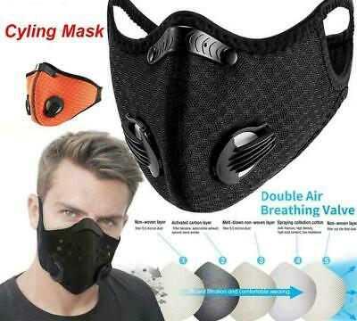 Lots Outdoor Cycling Half Face Cover & PM2.5 Filter Dual-valve Breathable Shield