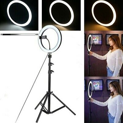 "10"" LED Ring Light Dimmable Lighting Kit Phone Selfie Tripod Makeup Live Lamp AU"