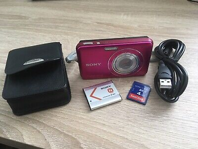 Sony Cybershot DSC W310 12.1MP Hot Pink Digital Camera with 4GB SD card and case