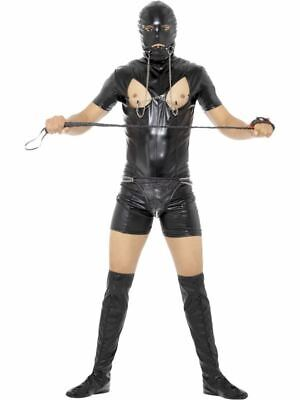 Skinz Suit Fitted Skin Tight Stag Do Novelty Party Mens Fancy Dress Costume