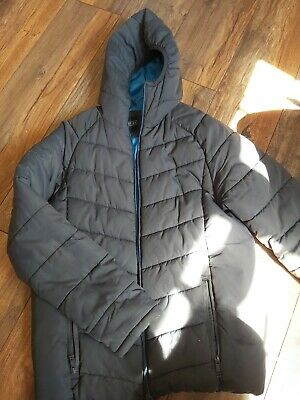Next Quilted Coat-age 16/grey