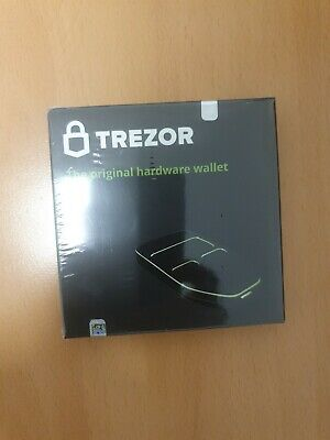 NEW Trezor One Cryptocurrency Hardware Wallet Storage Security Compact - Black
