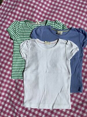 Bundle of 3 pointelle T-shirts, mini boden girls 5-6, Great Condition