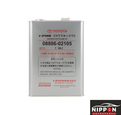 New Genuine Toyota Oem Cvt Transmission Fluid Tc 08886-02105 4 Litres
