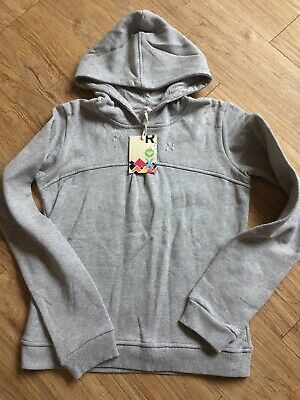 Roxy Girls Age 16 Years Grey Cotton Hoodie Sweatshirt 34 Inch Chest RRP £40