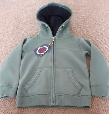 Fat Face Boys Zip Up Hoodie Age 5 - 6 (new)