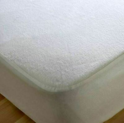 Non Noisy Waterproof Terry Towel Mattress Protector Extra Dee Fitted Sheet