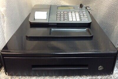 CASIO SE-100-MD-SR Electronic Cash Register Complete With Till Rolls & Free P&