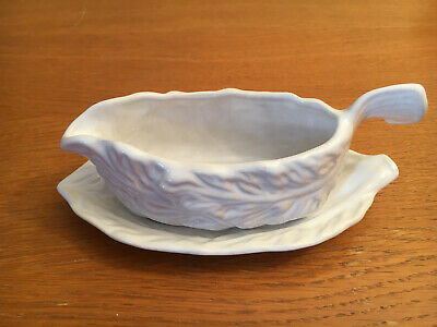 Sylvac sauce boat with dish - white