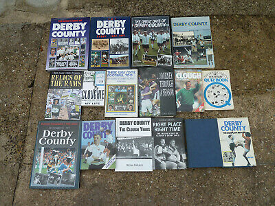 Vintage Joblot Of Derby County Football Club  Books Free Uk P&P All Pictured