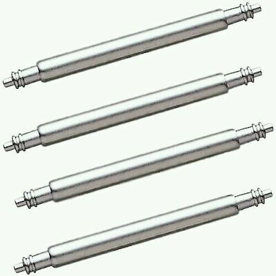 4 x Strong Stainless Steel Watch Strap Spring Bars Pins - 18/20/22/24mm
