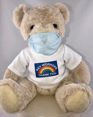 💙NHS KEY WORKER THANKYOU  Teddy bear T-SHIRT PPE 10% Donation to CHARITY💙💙