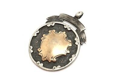 A Nice Antique Art Deco C1924 Gold on Sterling Silver 925 Fob Pendant #21472