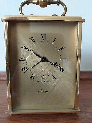 Vintage Swiza carriage clock 8 Day Alarm  In Excellent Condition Swiss made.