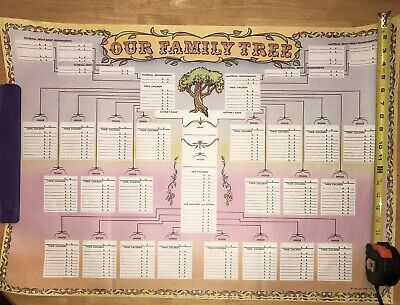 Vintage Our Family Tree Poster Genealogy