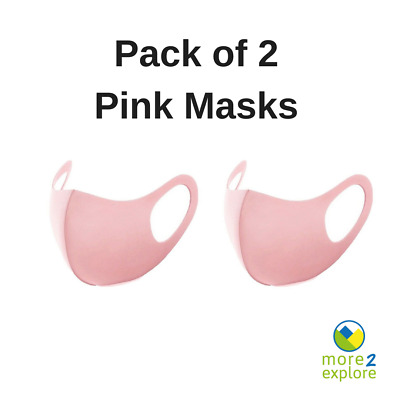 Pack of 2 Pink Face Mask /Covering. Washable & Reusable. Fast Delivery From UK!